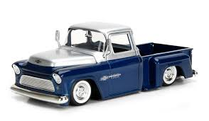 100 Just Trucks 124 Scale Die Cast Vehicle 1955 Chevy Stepside By Jada