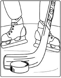 Free HOCKEY Crayola Coloring Page
