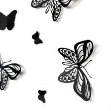 Pop Up Black ButterfliesButterfly Wall ArtPaper ButterfliesBlack Butterflies3D