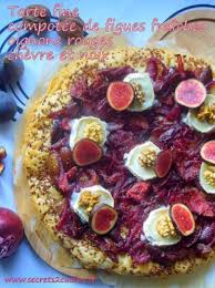 cuisiner figues fraiches recette tarte compotée de figues fraîches oignons rouges