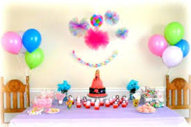 Birthday Decoration At Home Simple Ideas Wall With Balloons Fresh First For Girl