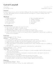 Resume For A Bank Manager Examples Sample Assistant