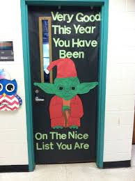 star wars christmas yoda classroom door 2015 2016 school year