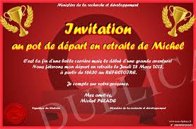 invitation au pot de depart en retraite de michel