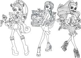 Cool And Opulent Monster High Coloring Pages All Characters Printable Kids Colouring