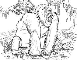 Gorilla Coloring Page Free Printable Pages