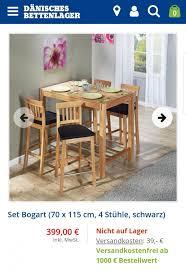 bartisch hochtisch bogart plus 4 stühle in 65611 brechen for