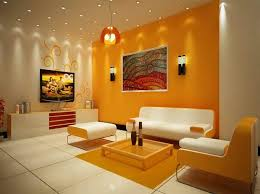 orange paint color combination for living room home furniture