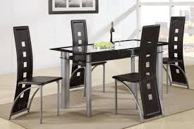 Black Painted Glass & Leatherette Chairs Dining Set – LIAM ... Solid Victoria Ash Ding Table With Angled Black Leg Design Extending First Albert Light Matt A Shaped Legs Designa 120187cm Melamine Grey Ding Room Ideas Chairs Daisy Modern Tables Sohoconcept Halsey 7piece Splay By Bernards At Wayside Fniture Lynd Dark Ash Liberty Home Dcor Online Lanesborough Hadley Rose Cannelle Gold Capped Barker Stonehouse