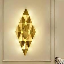 moderne luxus goldene überzogene matte bronze wand le mit