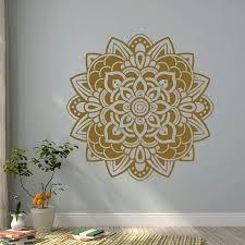 Mandala Wall Decal Vinyl Stickers Yoga Decals Lotus Flower India Art Decor Boho Bohemian Bedroom Dorm Studio Interior Design C098