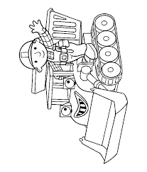 Bob The Builder Muck Coloring Page