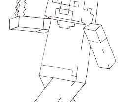 Steve Coloring Pages Wonderful Minecraft Home Diamond Armor Nazly Me Irwin Colouring With Kids 1600