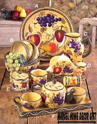 Image Detail For Kitchen Decor Tuscany Fruits Canister Dinnerware Set A Beautiful