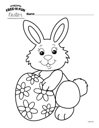 Free Easter Bunny Coloring Pages At N Fun