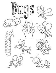 Surprising Bugs Coloring Page Pages