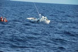Hard Merchandise Tuna Boat Sinks by Coast Guard Cutter Crashes Into Sinks Fishing Boat