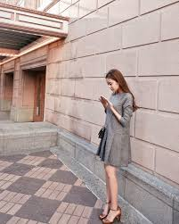 Korean Style Long Sleeve Autumn And Winter Dress