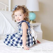2018 Baby Girls Plaid Outfits Summer New Butterfly Back Check Princess Dress Tops Shorts Fashion Kid Clothing Sets Casual Children Set Tz176 From