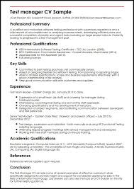 Test Manager CV Sample