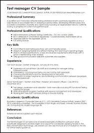 Test Manager CV Sample