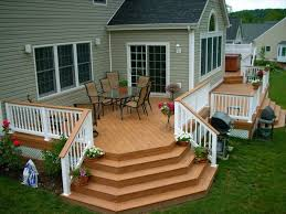 Deck Railing Horizontal | Deck And Railing Made From Composite ... Ranch Style Homes Pictures Remodels Hgtv Room Additions For Mobile Buzzle Web Portal Ielligent Stunning Deck Designs For Ideas Interior Design Apartments Ranch Homes With Walkout Basements Simple Front Porch Brick Columns Walk Out Basement House With Walkout Basement How To Homesfeed Image Of Roof Newest On White Houses Porches Back Plans Home And Decks Raised Vs Gradelevel Designs Design And