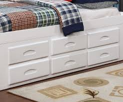 Zayley 6 Drawer Dresser by Full Size Bookcase Captains Day Bed In White 0223 Day Beds