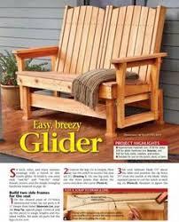 57 glider bench plans outdoor furniture plans glider plans