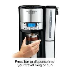 Hamilton Beach Brewstation Iced Coffee Cup Programmable Maker With Removable Water Reservoir Black Stainless Home Ideas Magazine