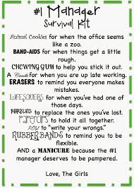 Boss Day Office Decorations by The Real Housewife Of Fresno Gift Ideas Manager Survival Kit