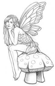 Line Art Drawings Of Fairies