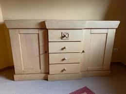 schlafzimmer möbel pinienholz schrank kommode bett top zustand