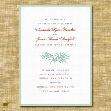 Simple Beach Wedding Invitations Post Wording Text Chic Modern Invitation