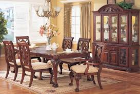 Room With China Cabinet The Preston Cherry Dining Table Chairs Furniture