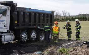 Dump Truck Overturns On N.C. 581 (PHOTO GALLERY) - Goldsboro Daily ...