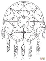 Native American Dreamcatcher Mandala Coloring Page Throughout Pages