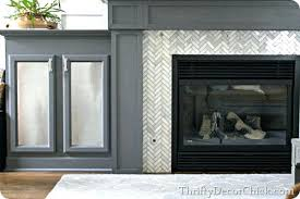 replace fireplace surround herringbone marble tile installing tile