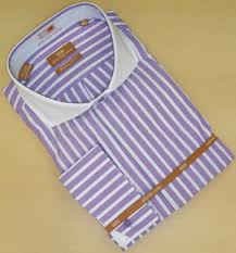 men u0027s steven land dress shirt purple white thick stripes ds 575