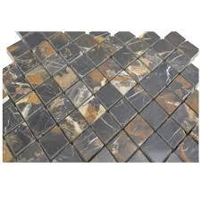 Granite Tile 12x12 Polished by Michael Angelo Diamond Pattern 1x2 Polished Mosaic Tiles 12x12