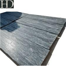 Leather Finish Green Waves Granite Floor Tiles For Living Room