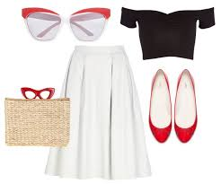 50s Inspired Outfit With Retro Cat Eye Sunglasses