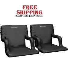 Stadium Chairs For Bleachers With Arms by Padded Stadium Chairs Wide Seat Cushion Bleacher Folding Portable