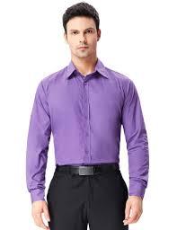 men slim fit long sleeve casual work formal dress shirt t shirt