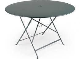 table jardin metal ronde pliante kirafes