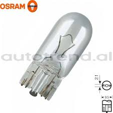 wedge base bulb t10 12v 5w osram autotrend
