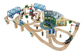 fisher price thomas the train wooden railway tidmouth sheds deluxe