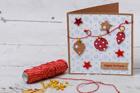 How To Make A Bauble Bunting Christmas Card Papercraft Easy