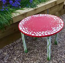 OOAK Fairy Toadstool Table - Made To Order Red Toadstool Table Masquespacio Designs Adstoolshaped Fniture For Missana Mushroom Kids Stool Uncategorized Chez Moi By Haute Living Propbox Event Props Fniture Hire Dublin How To Make A Bistro Set Garden In Peterborough Swedish Woodland Robins Floral Side Magentarose Toadstools Fairy Garden