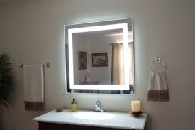 wall mounted lighted makeup mirror home depot wall decoration