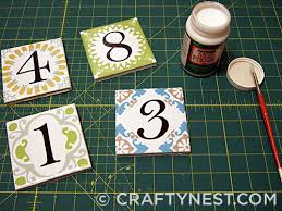 house number tiles crafty nest